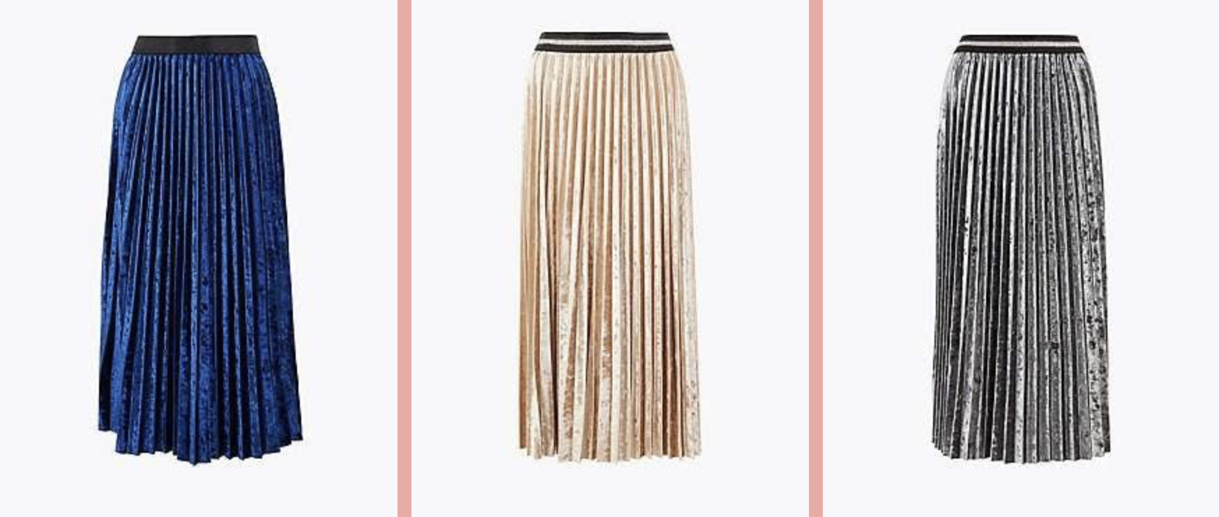 m and s pleated skirts